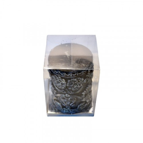 Black Embossed Pillar Candle