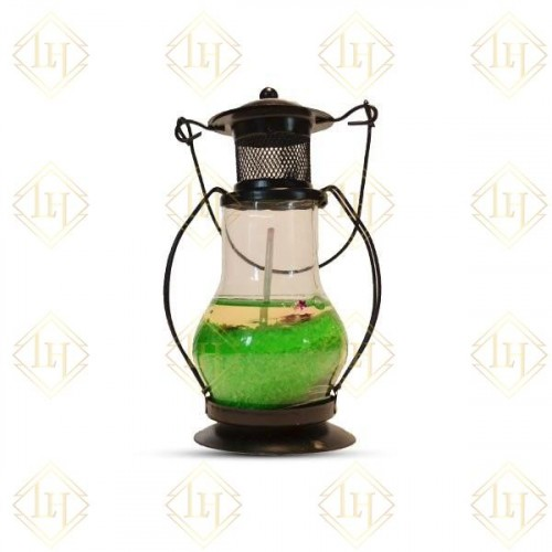 Decorative Gel Lantern - Green