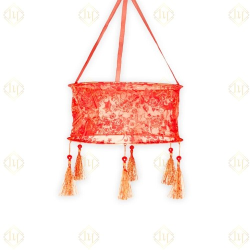 Hanging Cloth Lantern (small) - Red