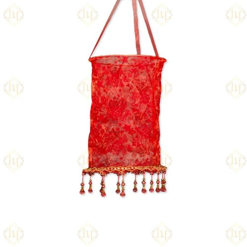 Hanging Cloth Lantern- red